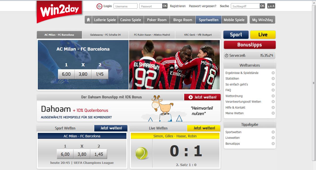 Win2day Sportwetten
