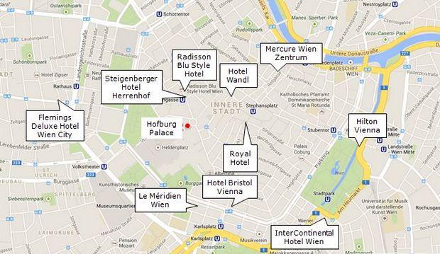 Mapa Hoteles Viena 2