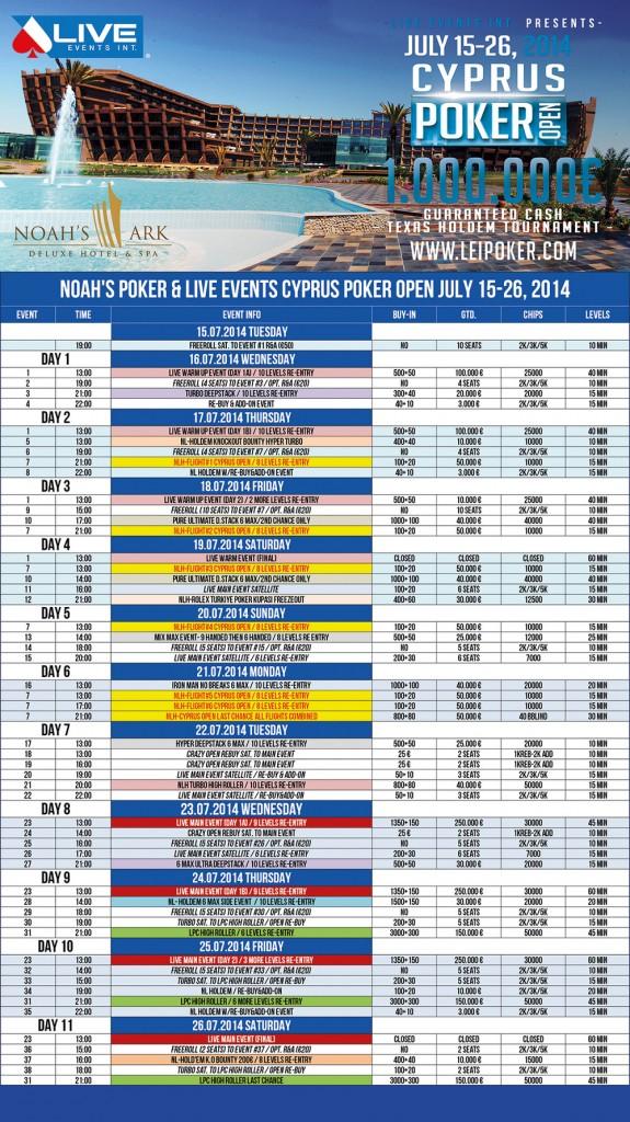 cprus open schedule
