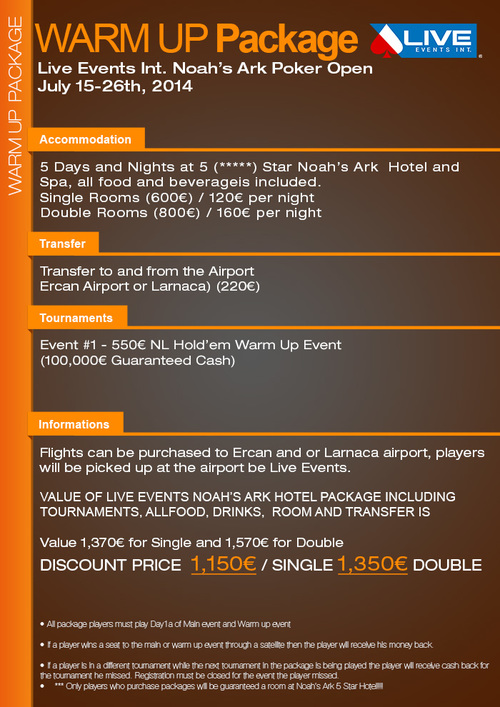cyprus warm up PACKAGE