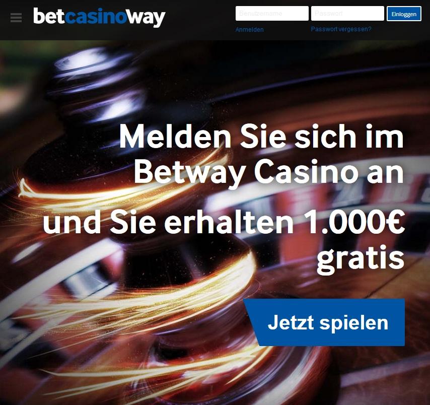 Betway Willkommensbonus