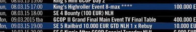 gcop schedule