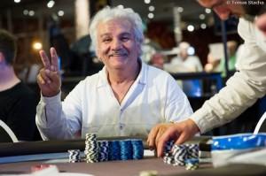 Main event 1a chip leader Eureka Poker Tour 5 Hamburg Kadir Uzunuglu  Tomas Stacha-9718