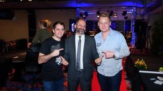 Paul Zimbler, Steve Frezer (WSOP Turnier Direktor) & Jens Knossalla