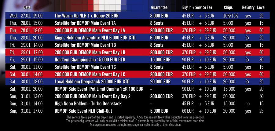 DUTCH-Schedule