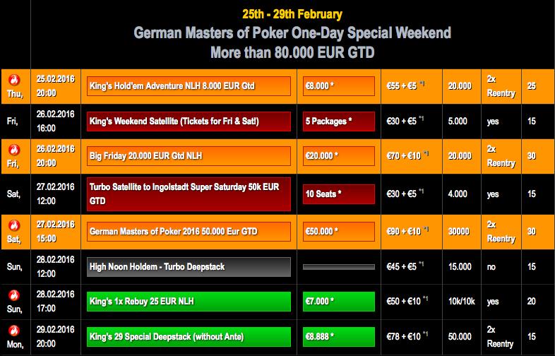 German_Masters_Schedule