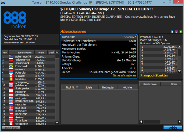 $110.000 Sunday Challenge