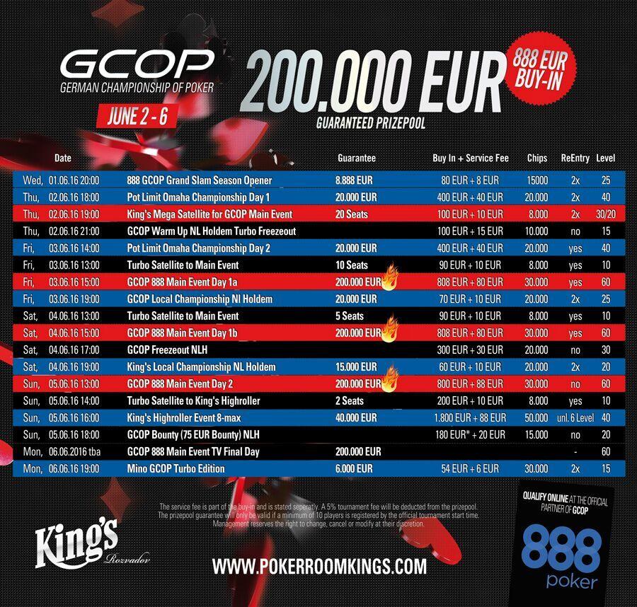 Kings Casino Turnierplan