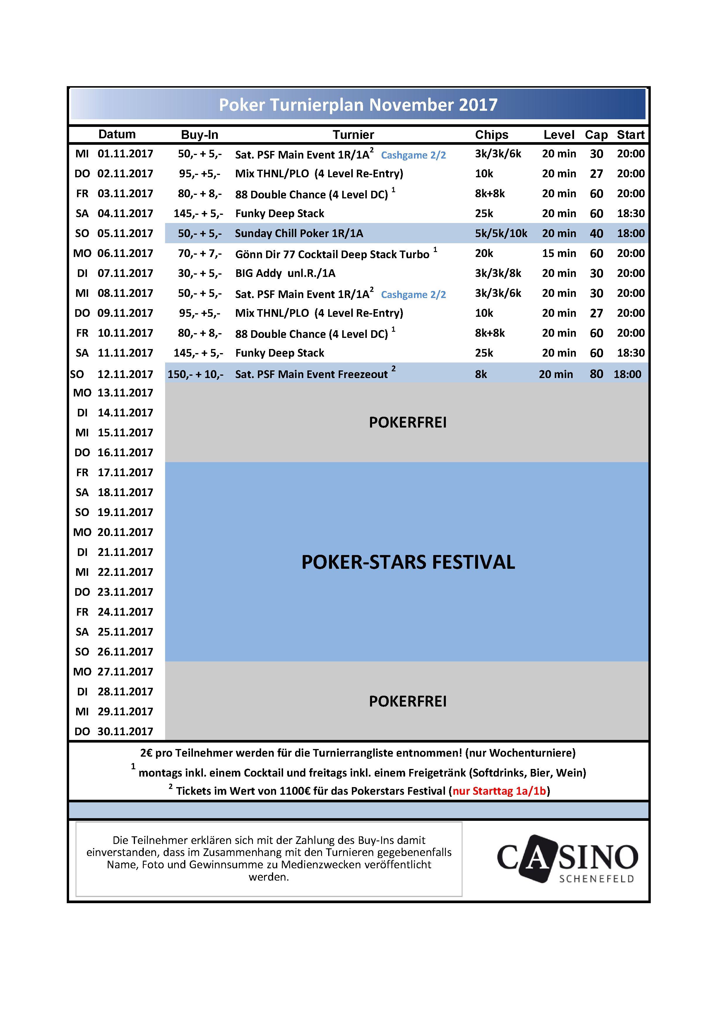 Schenefeld Turnierplan November