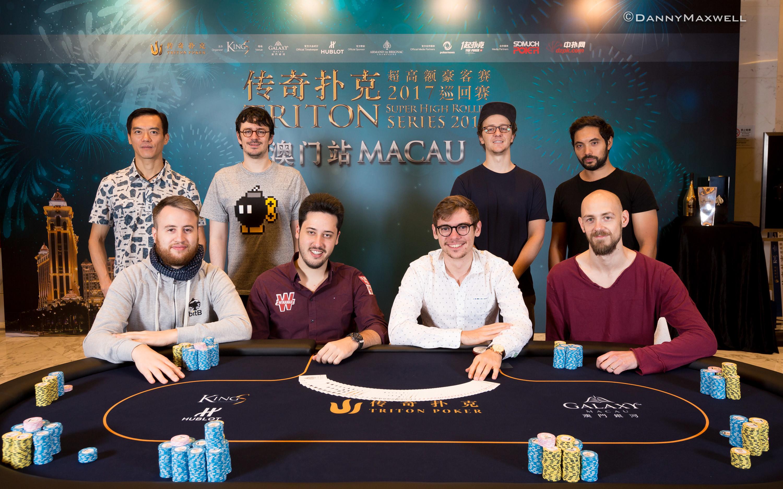 Triton Super High Roller Series Macau HKD $1,000,000 Main Event Final Table 2017