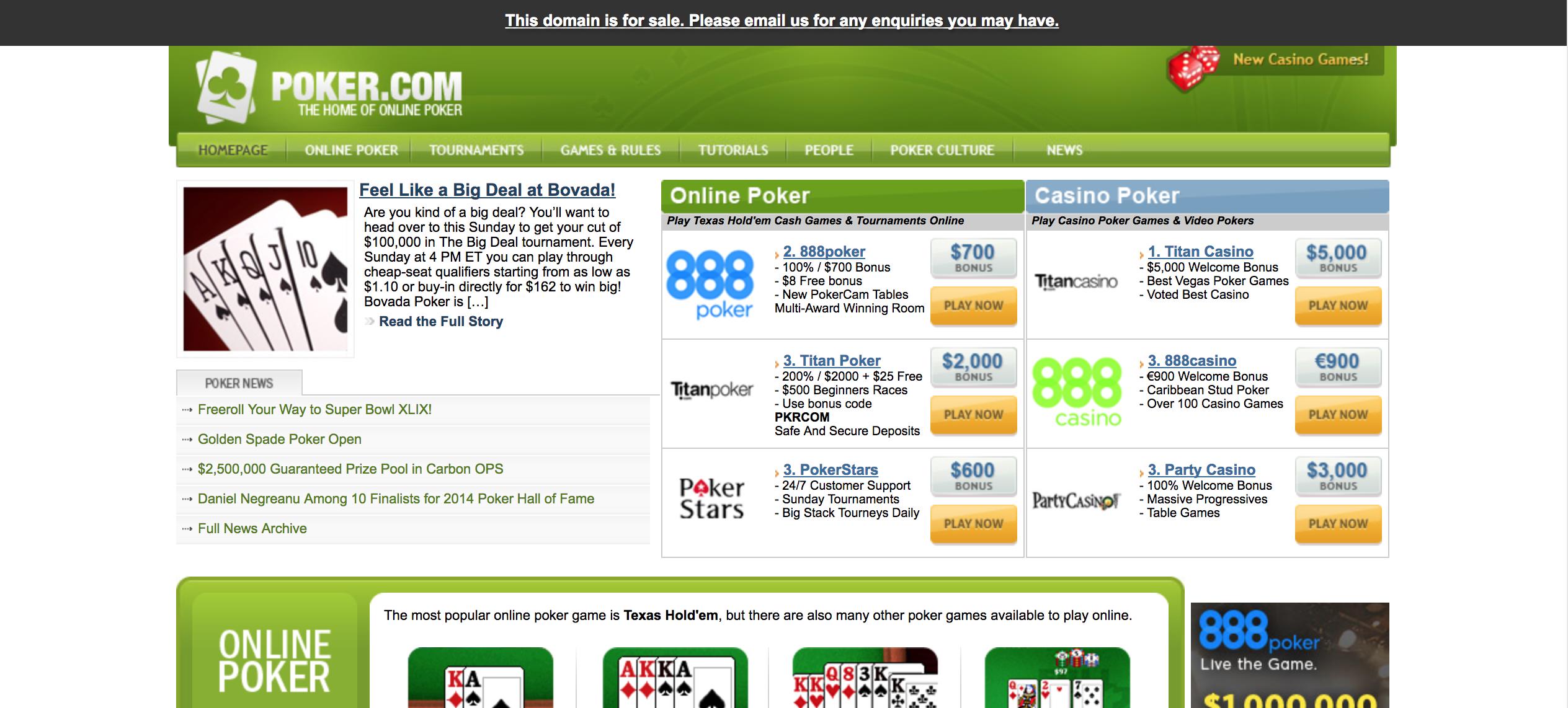 Pokercom_for_sale