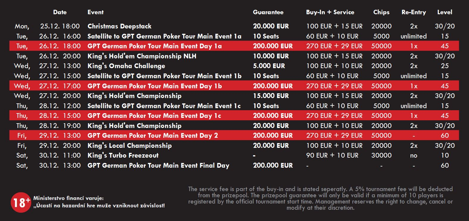 schedule_GPT_German_Poker_Tour_2017