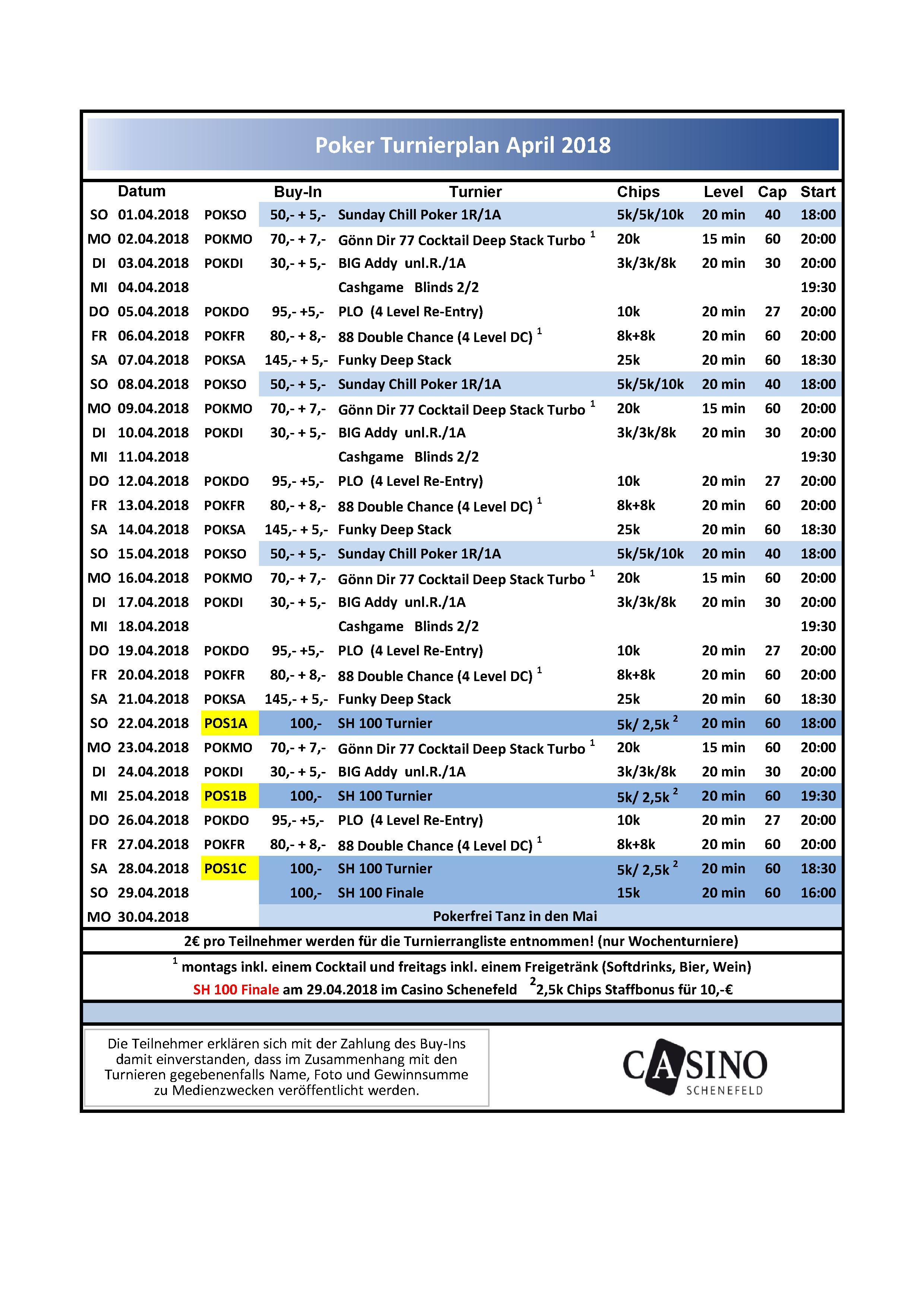 Schenefeld Turnierplan April