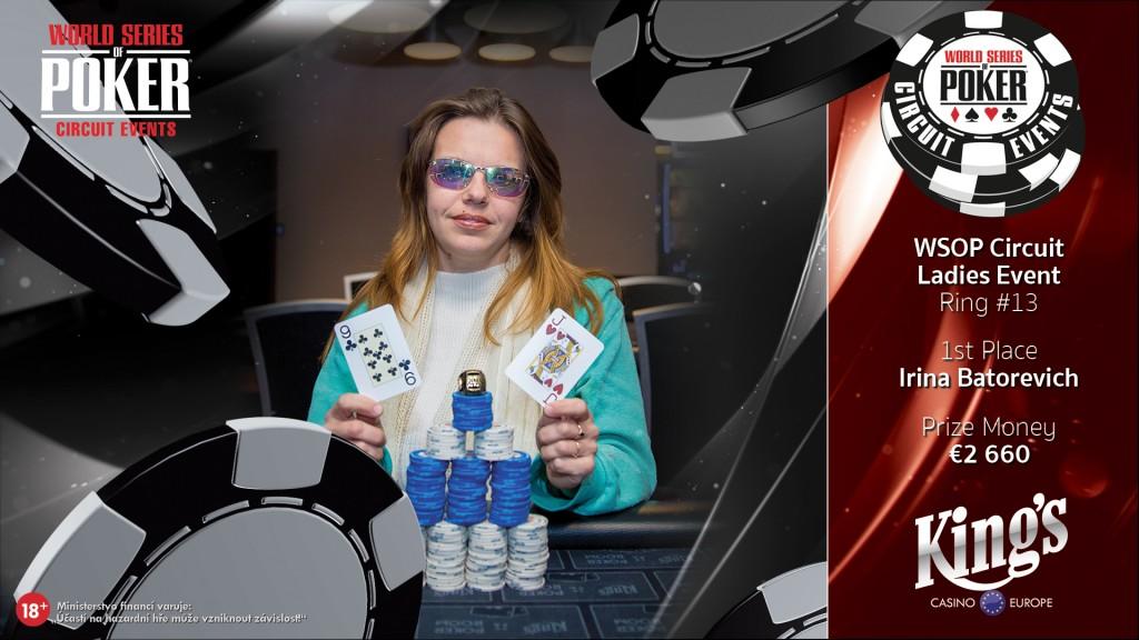 WSOPC Ladies winner Irina Batorevich