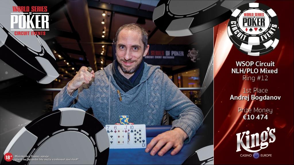 WSOPC Mixed winner Andrej Bogdanov