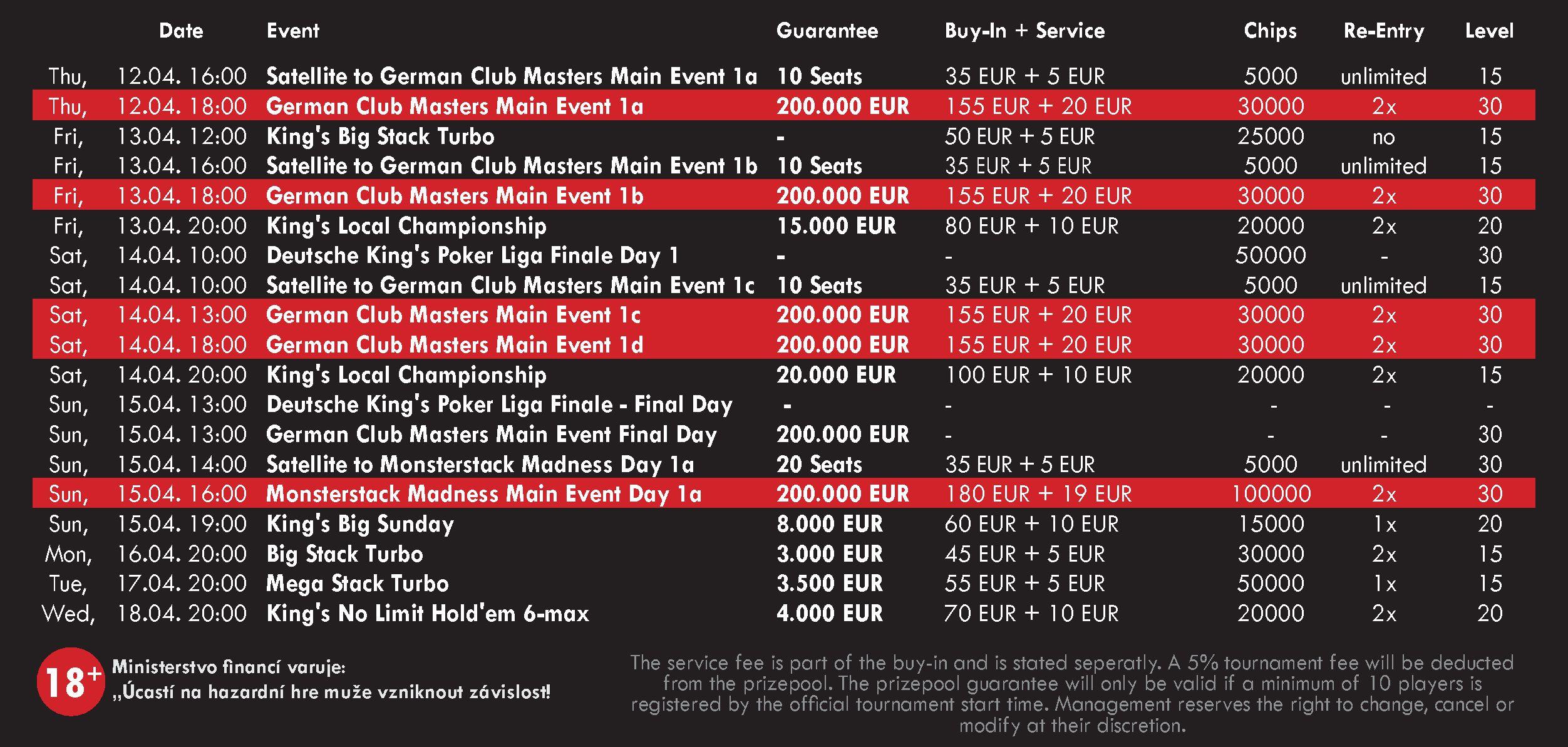 German Club Festival Schedule