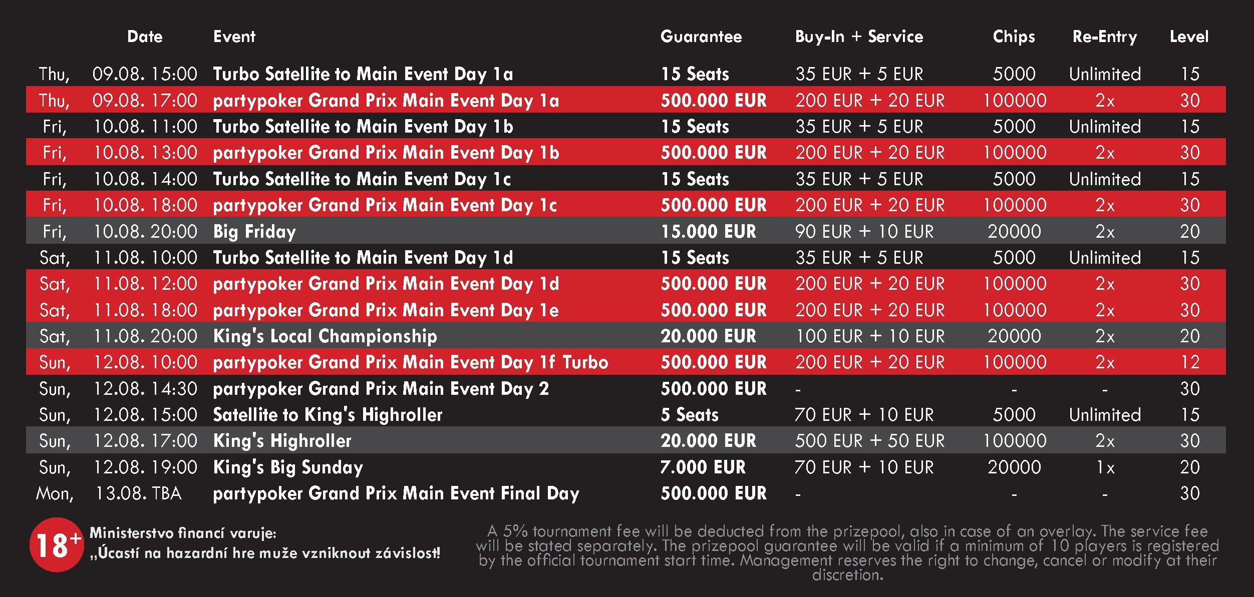 Grand Prix Schedule