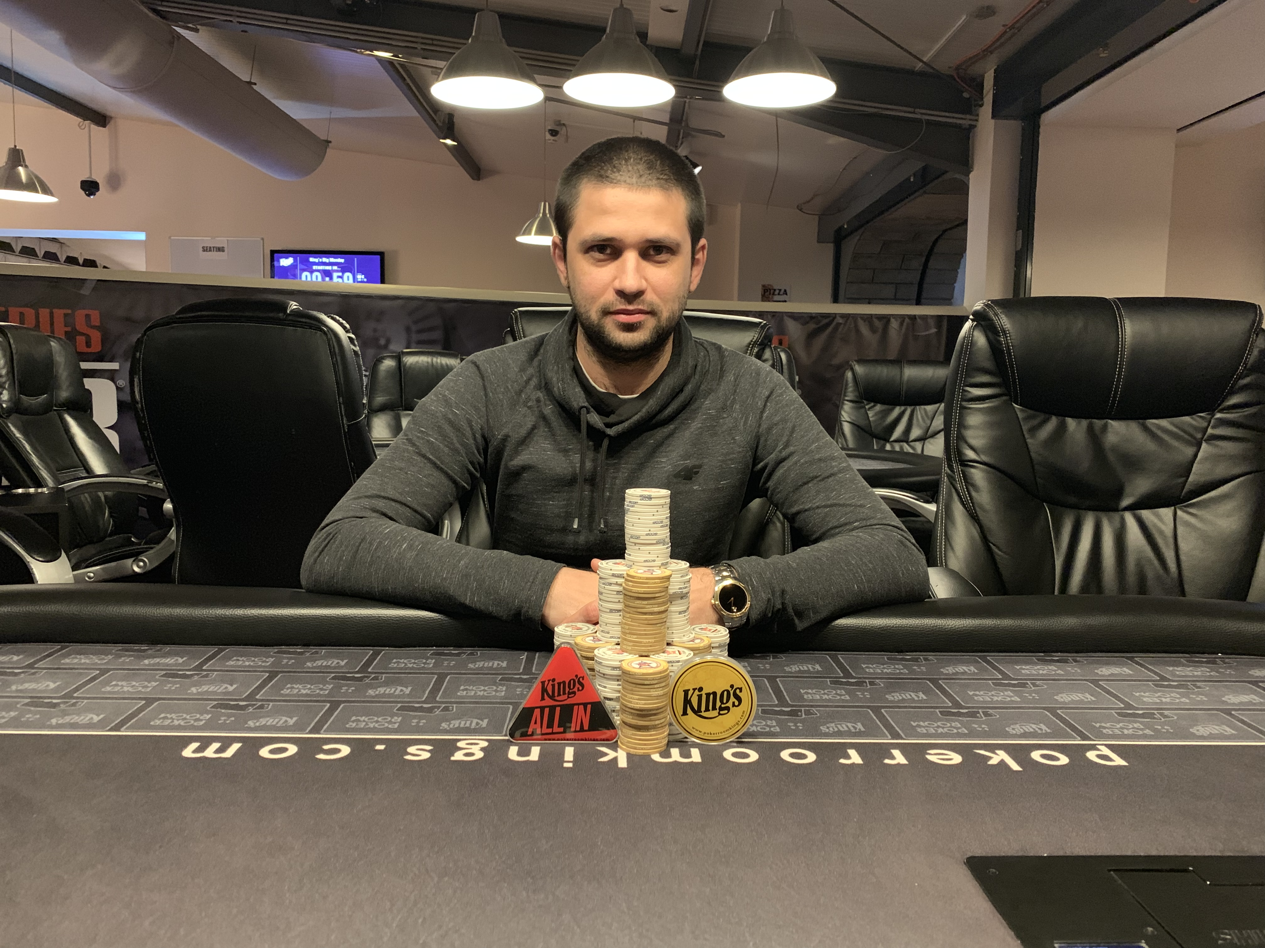 Poker Giants Deepstack winner