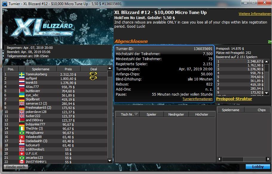 XL Blizzard 12